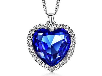ハート型 サファイア ダイヤモンド ネックレス
